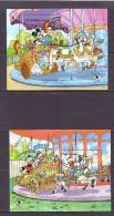 GAMBIE 1989  DISNEY-WORLD STAMP EXPO'89-MANEGE  YVERT N°B77-80  NEUF MNH** - Disney