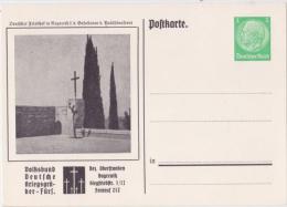 """Privat-Ganzsache-PK """"Kriegsgräber-Fürsorge, Nazareth - Bez.Oberfr.Bayreuth"""" Von Deutsches Reich, Sehr Selten !! - Allemagne"""