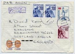 LATVIA 1992 500 K. Postal Stationery Envelope On Ordinary  Paper. Used  Michel U24 II - Latvia