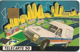 CARTE-PRIVEE-50U-EN 255-GEM-12/91-DOMOSERVICE-R°Glacée-UTILISEE-- TB E- - 50 Einheiten
