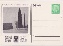 """Privat-Ganzsache-PK """"Kriegsgräber-Fürsorge, Nazareth - Gau Bayern München"""" Von Deutsches Reich, Sehr Selten !! - Allemagne"""