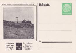 """Privat-Ganzsache-PK """"Kriegsgräber-Fürsorge, Vorbruck - Bez.Oberfr.Bayreuth"""" Von Deutsches Reich, Sehr Selten !! - Allemagne"""