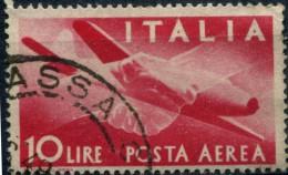 Pays : 247,04 Italie: Royaume : Umberto II )  Yvert Et Tellier N°: Aé   117 (o) - 5. 1944-46 Lieutenance & Umberto II