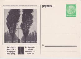 """Privat-Ganzsache-PK """"Kriegsgräber-Fürsorge, Salome Bei Lille - Bez.Oberfr.Bayreuth"""" Von Deutsches Reich, Sehr Selten !! - Allemagne"""
