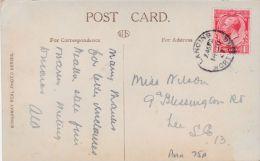 WORTHING - DENTON GARDENS . LANCING SINGLE CIRCLE CANCELLATION - Postcards
