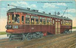 Réf : M-14-3967 : K.C. Excelsior Springs Ans Saint Joseph Interurban Car ( Railway) - Etats-Unis