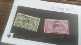 LOT 226250 TIMBRE DE FRANCE OBLITERE N�207/208 VALEUR 57 EUROS