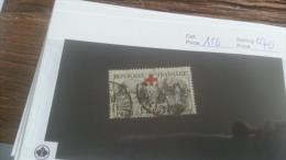 LOT 226252 TIMBRE DE FRANCE OBLITERE N�156 VALEUR 70 EUROS