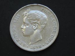 Spain - Espagne - 5 Pesetas 1898 - ALFONSO XIII -  Argent - Silver  *** EN ACHAT IMMEDIAT **** - [1] …-1931: Königreich