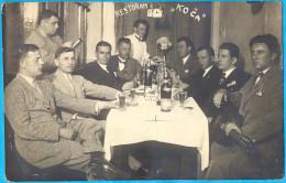 """Kingdom YU. Croatia. Vukovar. Restoran """"Koca"""". Fototpostkard. Atelje """"Mira"""" 1928."""