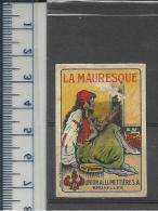 WOMAN LA MAURESQUE THREE TORCHES UNION MATCH UNION ALLUMETTIÈRE  OLD MATCHBOX LABEL BELGIUM - Boites D'allumettes - Etiquettes