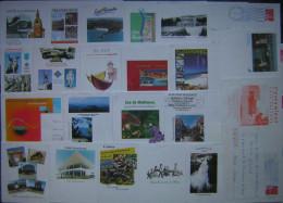 PAP  Prêt à Poster Oblitérés, Lot 61  PAP Différents  Sur Timbre Marianne De Luquet RF, Départements Divers - Postal Stamped Stationery