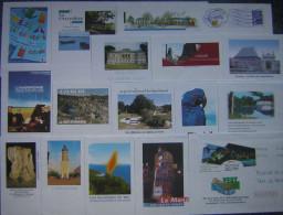 PAP  Prêt à Poster Oblitérés, Lot 16  PAP Différents  Sur Timbre Logo Bleu , Départements Divers - Postal Stamped Stationery
