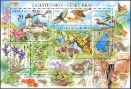 Czech Republic - Nature Protection - Karlstejn Region, Souvenir Sheet, MINT, 2013 - Blocks & Sheetlets
