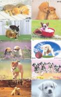 Lot 10 Telecartes Japon Chien - Dog - Hond - Phonecards (chien 1) (au Plus Rapide) - Chats