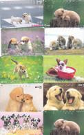 Lot 10 Telecartes Japon Chien - Dog - Hond - Phonecards (chien 3) (au Plus Rapide) - Chats