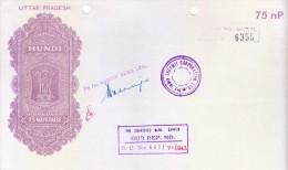 INDIA 1971 UTTARPRADESH HUNDI 75 PAISE - ISSUED BY THE INDIA THERMIT CORPORATION LTD, MARTIN BURN LTD. CHARTERED BANK - Bills Of Exchange