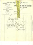 69 - Rhône - POULE - Facture DEAL-REISSIER - Scierie - Commerce De Bois – 1911 - REF 108 - 1900 – 1949