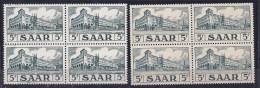 Saar1952: Michel522-23 Mnh** Block Of 4 Cat.Value25+Euros($31) - Ungebraucht