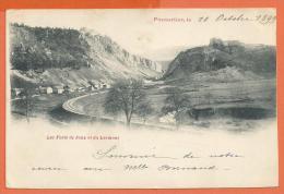 Oct147, Pontarlier, Les Forts De Joux Et Du Larmont, Précurseur, Circulée 1899 - Pontarlier