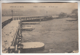 INONDATIONS A PARIS - CRUES DE LA SEINE ( Janvier 1910 ) :  L'Estacade - CPA - Paris Flood, 1910