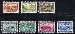 1946 MNH  Peace Issue  Farm, Great Bear Lake, Hydro Power Dam, Combine Harvestter, Logging, Train Ferry Sc 268-273,  C9 - 1937-1952 Règne De George VI