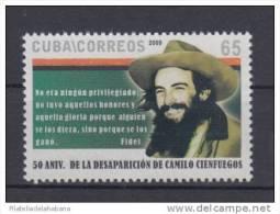 2009.2 CUBA 2009 MNH. 50 ANIV DE MUERTE DE CAMILO CIENFUEGOS. - Cuba