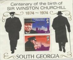 South Georgia 1974 Churchill Souvenir Sheet MNH - South Georgia