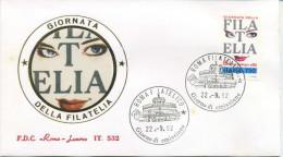 ITALIA - FDC  ROMA LUXOR 1992 -  GIORNATA DELLA FILATELIA - 6. 1946-.. Repubblica