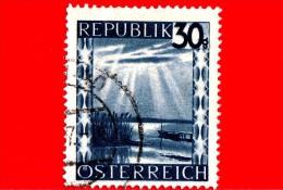 AUSTRIA - USATO - 1947 - Panorama - Neusiedler Lake (Burgenland) - 30 Gr - 1945-60 Used