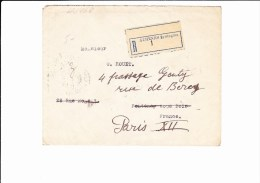 45/468    LETTRE RECOMM.   POUR PARIS   1927 - Griechenland