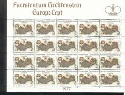 CEPT Landschaften / Landscape Liechtenstein 667 - 668 Kleinbogen / Sheet Of 20 ** Postfrisch - 1977