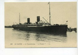 """CPA  Bateau :  LE HAVRE   """" Le  Provence  """"   A  VOIR  !!!! - Steamers"""