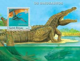 GUINEA BISSAU 2003 - Prehistoric Animals S/S - Mi B431, YT BF184 - Prehistorisch