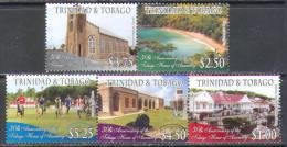 0900 Parliament Architecture Sport Churches 2011 Trinidad & Tobago 5v Set MNH ** - Trinidad & Tobago (1962-...)