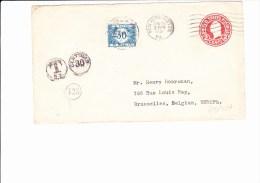 45/487   ENV.  1921 POUR LA BELG. TAXE - United States