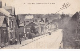 CPA   60     LIANCOURT  AVENUE  DE  LA  GARE  TB ETAT - Liancourt