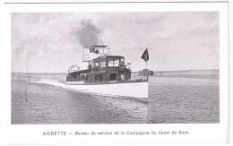EGYPTE  AIGRETTE - Bâteau De Service De La Compagnie Du Canal De Suez  TBE - Altri