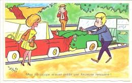Illustrateur C. Francis - Humour Automobile - Mon Horoscope M'avait Prédit Une Heureuse Rencontre - Série 956 - Humour