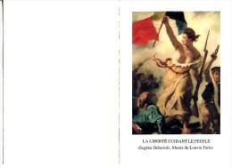 VOEUX De La POSTE 1989 : La Liberté Guidant Le Peuple - Post