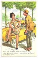 Illustrateur RAP - Humour Automobile - Vous êtes Doublée Dans Un Virage à 140 ......- AUTO ECOLE - Série 961 - Humour