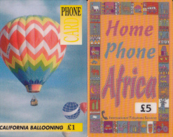 2 Cartes UK Montgolfière Et Africa - Royaume-Uni