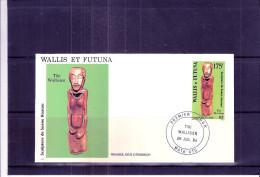 FDC Wallis Et Futuna - Scupture De Soane Hoatau - Tiki Wallisien (à Voir) - Wallis-Et-Futuna