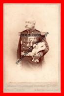 Cdv Du Général Paul Faure Biguet Rare Signée  Au Dos Voir Scan  Né A Crest Drome Et Décédé A Lugano En Suisse - Guerre, Militaire