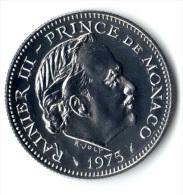 ** 5 FRANCS MONACO 1975 FDC ** - 1960-2001 Nouveaux Francs
