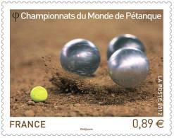 Timbre Championnats Du Monde De Pétanque, 2012, - Unused Stamps