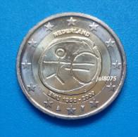 2 Euro Commemorative Pays-Bas 2009 EMU 10ans De L´euro 1999-2009 PIECE NEUVE UNC - Pays-Bas