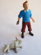 FIGURINE TINTIN PLASTOY 2011 TINTIN TBE Milou En Mauvais état En Cadeau - Tintin