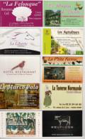 10 Cartes De Visite De Restaurants. - Cartes De Visite