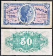 R 559. Billete 50 Cts Republica 1937. Nuevo Sin Uso. Plancha - [ 2] 1931-1936 : Republic